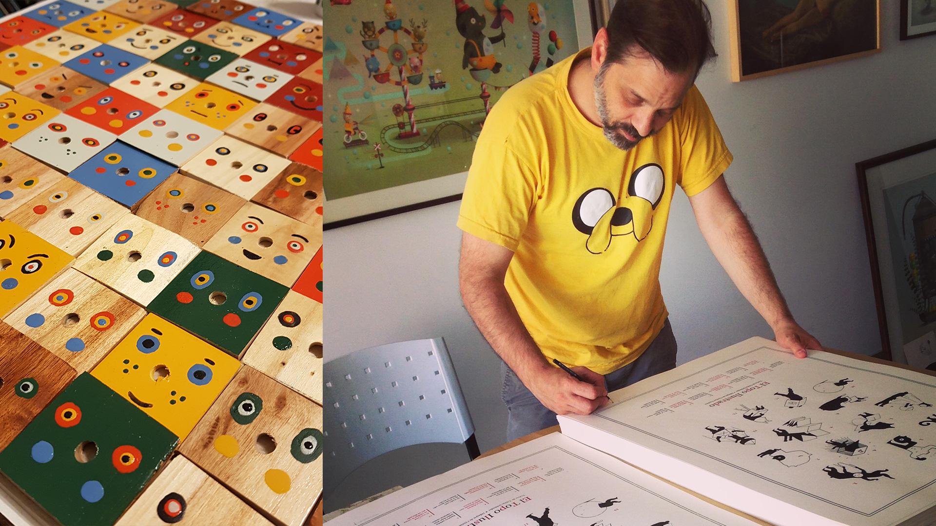 Cristian Turdera en su estudio
